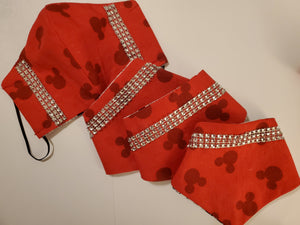 Pet Bandana-  Disney Red Mickey