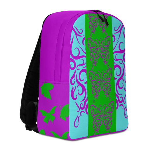 Backpack Travel Bag- Butterfly Purple
