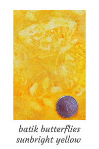 Pet Bandana- Batik Sunbright Yellow w/Butterflies