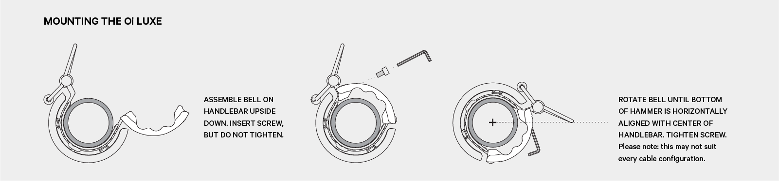 Fitting Instructions Knog Oi Luxe Bicycle Bell