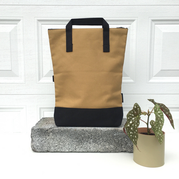 Vel-Oh Canvas Convertible Bag - Mustard