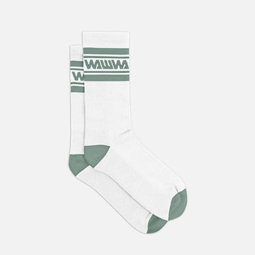Wawwa Organic Cotton Socks - White & Sage