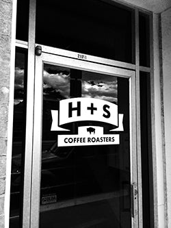 H+S Coffee Roasters Front Door