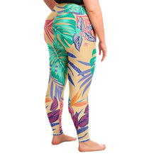Load image into Gallery viewer, Tropical Floral Print Plus Size Leggings