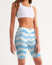 Load image into Gallery viewer, Stripe Women's Mid-Rise Bike Shorts