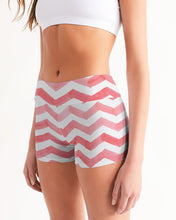 Load image into Gallery viewer, Stripe Women's Mid-Rise Yoga Shorts