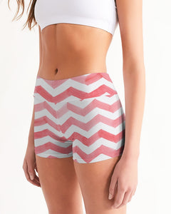 Stripe Women's Mid-Rise Yoga Shorts
