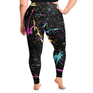80s Retro Print Plus Size Leggings