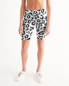 Animal Print Women's Mid-Rise Bike Shorts