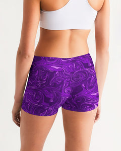 Psychedelic Women's Mid-Rise Yoga Shorts