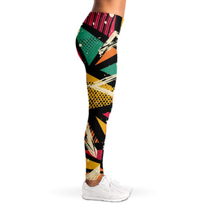 80s Retro Print Leggings