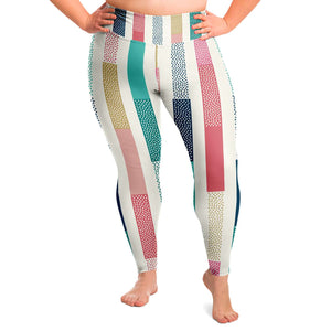 Stripe Plus Size Leggings