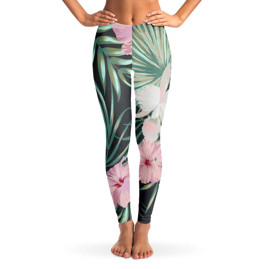 Tropical Floral Print Leggings