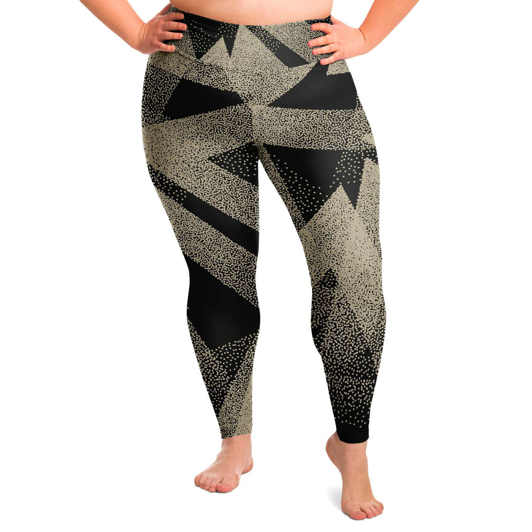 Abstract Plus Size Leggings