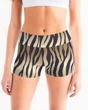 Load image into Gallery viewer, Animal Print Women's Mid-Rise Yoga Shorts