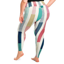 Load image into Gallery viewer, Stripe Plus Size Leggings
