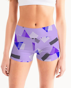 80s Retro Women's Mid-Rise Yoga Shorts