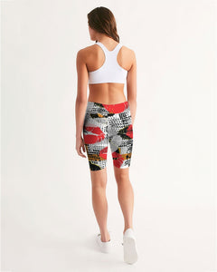 Pop Art Women's Mid-Rise Bike Shorts
