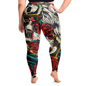 Skull Print Plus Size Leggings