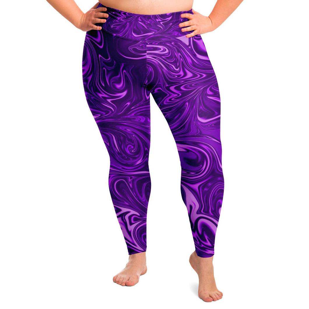 Psychedelic Plus Size Leggings