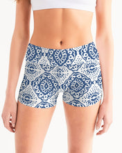 Load image into Gallery viewer, Mandala Print Women's Mid-Rise Yoga Shorts