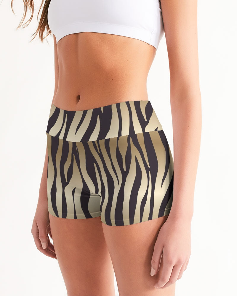 Animal Print Women's Mid-Rise Yoga Shorts