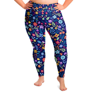 Floral Print Plus Size Leggings