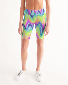 Tie Dye Women's Mid-Rise Bike Shorts