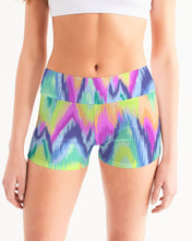 Load image into Gallery viewer, Tie Dye Women's Mid-Rise Yoga Shorts