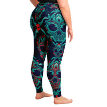 Load image into Gallery viewer, Skull Print Plus Size Leggings