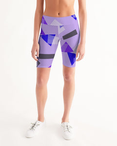 80s Retro Women's Mid-Rise Bike Shorts