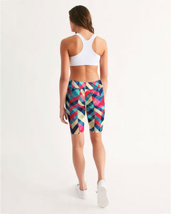 Stripe Women's Mid-Rise Bike Shorts