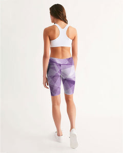 Pastel Print Women's Mid-Rise Bike Shorts