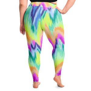 Tie Dye Plus Size Leggings