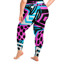 Load image into Gallery viewer, Abstract Plus Size Leggings
