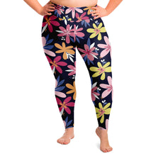 Load image into Gallery viewer, Floral Print Plus Size Leggings