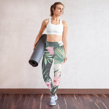 Load image into Gallery viewer, Tropical Floral Print Yoga Leggings
