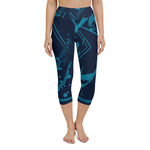 Abstract Yoga Capri Leggings