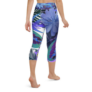 Floral Print Yoga Capri Leggings
