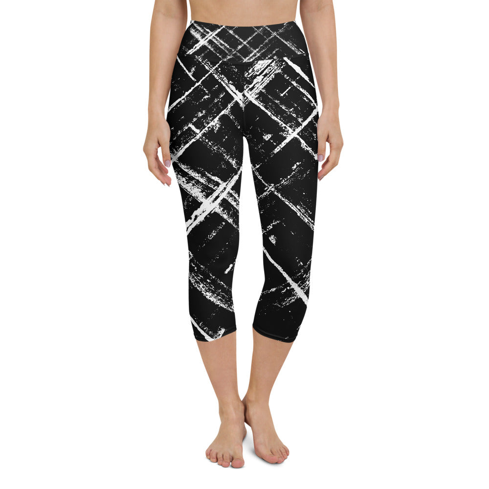 Stripe Yoga Capri Leggings