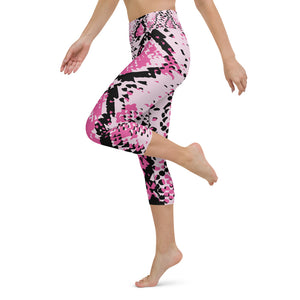 Animal Print Yoga Capri Leggings