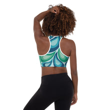 Load image into Gallery viewer, 70s Retro Print Padded Sports Bra