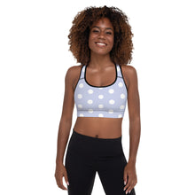 Load image into Gallery viewer, Polka Dot Padded Sports Bra