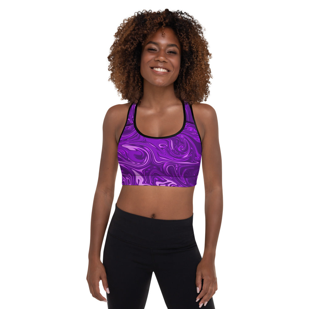 Psychedelic Padded Sports Bra