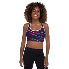 Load image into Gallery viewer, Stripe Padded Sports Bra