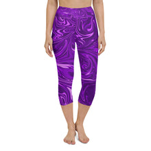Load image into Gallery viewer, Psychedelic Yoga Capri Leggings