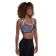 Load image into Gallery viewer, Mandala Padded Sports Bra