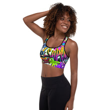 Load image into Gallery viewer, Pop Art Padded Sports Bra