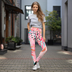 Tropical Floral Print Yoga Leggings