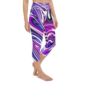 Psychedelic Yoga Capri Leggings
